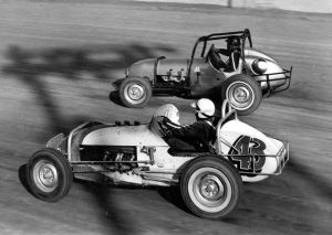 Grady Wade  Powering The Selenke Chevy through a corner